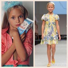 LiaLea modeli Alice Samsonova defile aralarında bile organik sütünden vazgeçmiyor .  Sweetest Alice can keep up with the runway shows by drinking organic milk