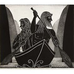 'James K Baxter and Odysseus explore the Upper Whanganui' by Marian Maguire Literary Criticism, In The Flesh, Printmaking, New Zealand, Country, Paper, Illustration, Artwork, College