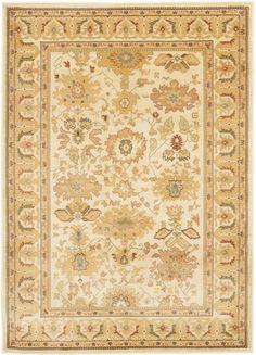 Safavieh Heirloom Collection HLM1741-1125 Cream / Brown Area Rug