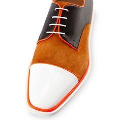 #Christian #Louboutin Bruno Orlato #summer #shoe #captoe #suede #white #mens #shoes