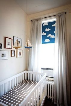 Trend Watch: Polka Dots in Kids' Spaces curtains and painted roller shade