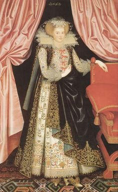 Dorothy Cary, later Viscountess Rochford, by William Larkin, 1614-1618.