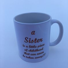 Sister, family, personalized, 15 oz mug, cup, loving sisters, special sister by RAmysCraftRoom on Etsy
