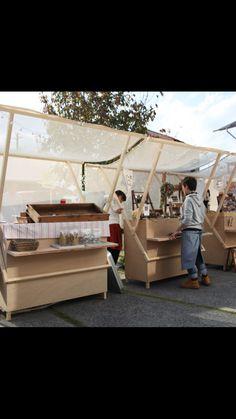 Kiosk Design, Display Design, Booth Design, Wood Display, Food Stall Design, Food Cart Design, Stand Feria, Container Shop, Pop Up Market