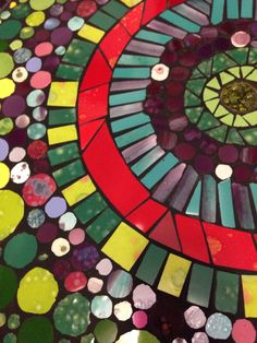 Ciclos, mosaicos mesa para terraza
