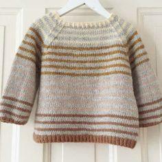 Ravelry: Striped Lama (ENG) pattern by PixenDk Baby Knitting Patterns, Baby Sweater Knitting Pattern, Baby Sweater Patterns, Knit Baby Sweaters, Boys Sweaters, Knitting For Kids, Baby Knits, Pullover Sweaters, Sewing Patterns