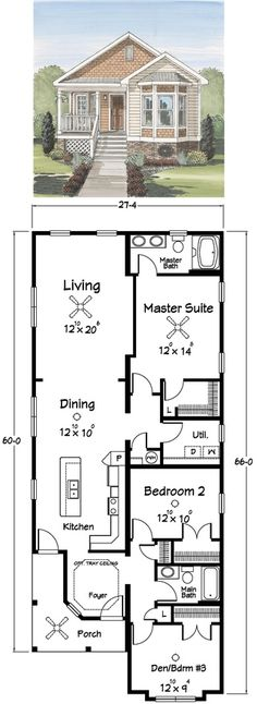 Love this floor plan. Especially the open Kitchen, Dining and Living area!
