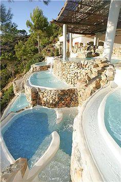 Hacienda Na Xamena pools, Ibiza, Spain