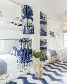 Bunk beds! By Homes Editor Ellen McGauley As clever design ideas gopatterned flooring in beach houses ranks right up there with bunk beds and outdoor showers. You can hide sand and add major wow factor in a...