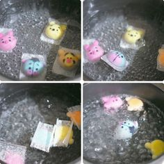 How I Make Winnie The Pooh Inspired Rice Dumplings Cute Snacks, Cute Food, Traditional Chinese Food, Glutinous Rice Flour, Asian Desserts, Chinese Desserts, Steamed Buns, Edible Food, Weird Food