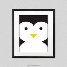 Nursery Decor: Arctic Penguin Wall Art, Wall Decorations / Posters for Baby Room and Kids Rooms, Cute Animal Posters as Minimalist Artwork