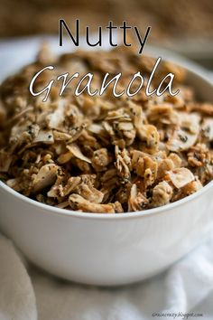 Grain Crazy: Nutty Granola (Low sugar) Add some healthy crunch to your breakfast or snack. #chia