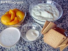 Prajitura cu iaurt si fructe Ingrediente Biscuit, Dairy, Food And Drink, Pudding, Cheese, Desserts, Romania, Tailgate Desserts, Deserts