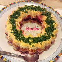 Σαλάτα Χριστουγεννιάτικη σαν τούρτα Cake, Desserts, Food, Pie Cake, Tailgate Desserts, Pie, Deserts, Cakes, Essen