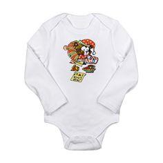 Dear Santa Sleepy Ted Long Sleeve Infant Bodysuit