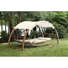 Hammock Swing Chair Outdoor Furniture Canopy Patio Garden Lounger Pool Backyard