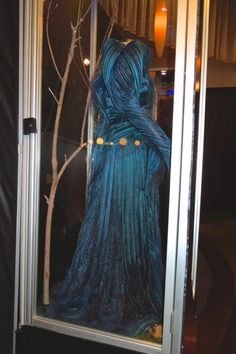 Into the Woods blue Witch dress side detail
