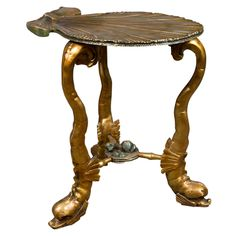 Venetian Silver-gilt And Carved Wood Grotto Table   From a unique collection of antique and modern side tables at https://www.1stdibs.com/furniture/tables/side-tables/