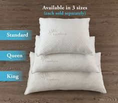 Shredded Memory Foam Pillow With Kool-Flow Micro-Vented Bamboo Cover  $ 44.97   Warning!! A Good Nights Sleep is Critical to Your Health! Do You Wake Up More Tired Than When You Went To Bed Or Suffer From: Migraines Insomnia Snoring Neck Pain Allergies & Asthma TMJ Tingling in Your Fingers The Problem With Most Pillow