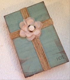 Shabby Chic Hope Cross Block by BeingReMade on Etsy