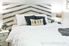 Simply Klassic Home: Painted Arrow Headboard & Master Bedroom Updates