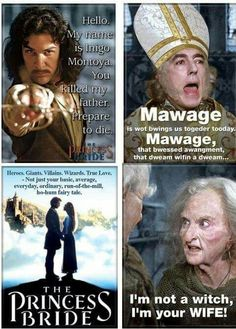 The best quotes from The Princess Bride -- The Princess Bride humor Princess Bride Funny, Princess Bride Quotes, Tv Quotes, Movie Quotes, Funny Quotes, Old Movies, Great Movies, Awesome Movies, Funny Movies