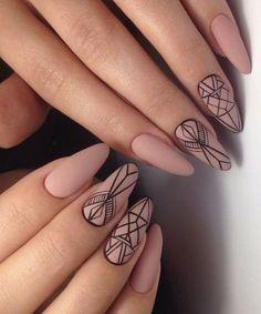 Awesome Geometric Wedding Nail Art Designs