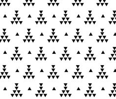 Tribal teepee 2 fabric by >>mintpeony<< on Spoonflower - custom fabric