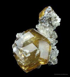 Calcite on Sphalerite - RLIL14B-39 - Sub-Rosiclare Level - USA Mineral Specimen