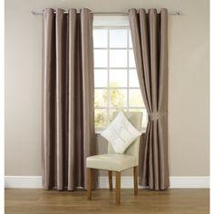 Wilko Faux Silk Eyelet Curtains Mink 167cm x 228cm