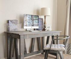 Free Furniture Plans Rustic Truss Desk