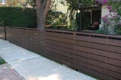 horizontal fence + stain/paint color