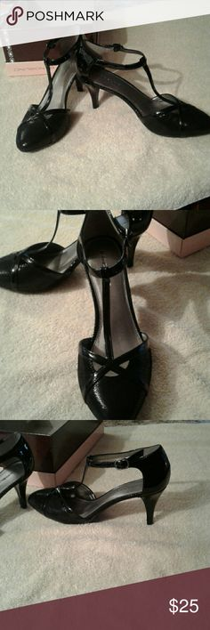 Heels Cute Black 3 inch heels. Buckles arou d the ankle. New with box. Bandolino Shoes Heels
