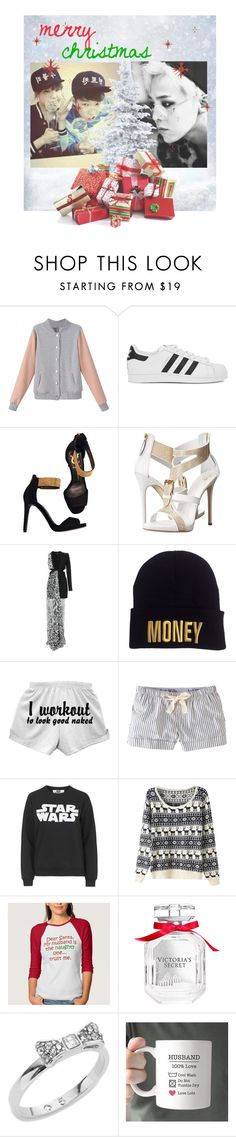 """{ Santa Baby }"" by the-anon-side ❤ liked on Polyvore featuring adidas Originals, Vince Camuto, Giuseppe Zanotti, Versus, Jack Wills, Tee and Cake, Victoria's Secret and Kate Spade"