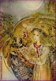 the art of sulamith wulfing - wrapped in angels wings