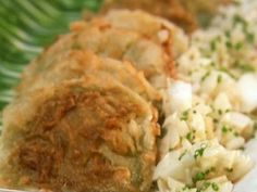 Fried Green Tomatoes with Vidalia Onion Relish recipe from Paula Deen via Food Network
