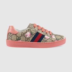 Children's GG flowers low-top