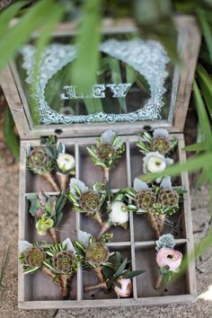 Boutonnieres for the guys ... Photography by alisonconklin.com/, Officiant by journeysoftheheart.org