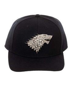 93554ee4da9 Bioworld Game of Thrones Silvertone   Black Stark Crest Baseball Cap