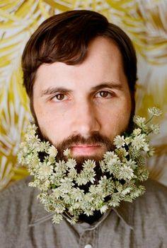 Barba e flores ❤