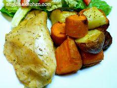 Gluten Free Dairy Free Chicken and Rosemary Roasted Veggies - Dinner