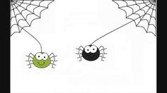 daar komen eens 2 spinnetjes aan