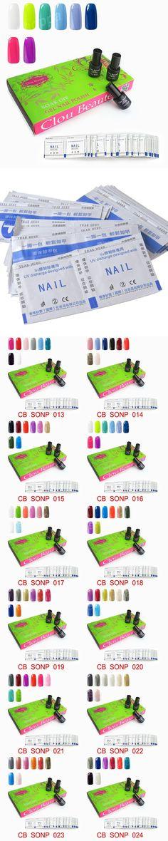 Clou Beaute 8 Colors SONP 016 & Remover Wraps UV Gel Polish Soak Off Nail Gel Led Lecquer Gel Nail Polish