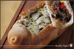 Sanduba de antepasto no pão italiano