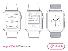 Apple Watch Wireframe for SketchApp [FREEBIE] | Freebbble