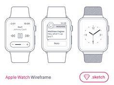 Apple Watch Wireframe for SketchApp [FREEBIE] | Freebbble