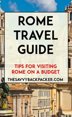 Rome is a mix of new and old, it has continued to awe visitors for thousands of years. This Rome travel guide will help you plan your visit on a budget. Travel Advice, Travel Guides, Travel Tips, Travel Icon, Travel Hacks, Travel Destinations, European Vacation, European Travel, Rome Travel