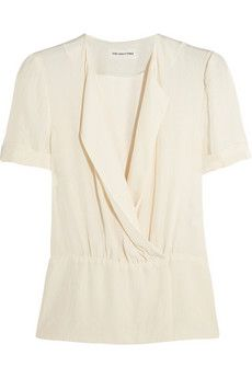 Étoile Isabel Marant Fergie wrap-effect jersey top   NET-A-PORTER