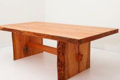 Fir Slab Trestle Table