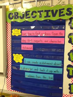 Life in First Grade: Displaying Objectives